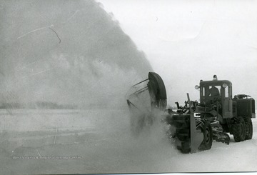 Clearing a road in Morgantown, W. Va.