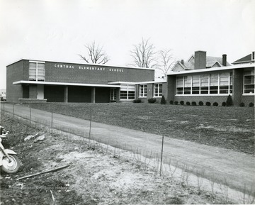 'New Central Elementary School. Dedicated March 7, 1956.'