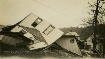 House or building completely destroyed by the tornado.