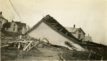 Building leveled by the tornado.