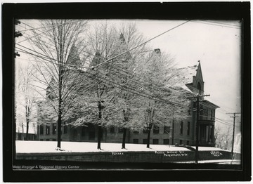 Public School Building in winter time, Morgantown W. Va.