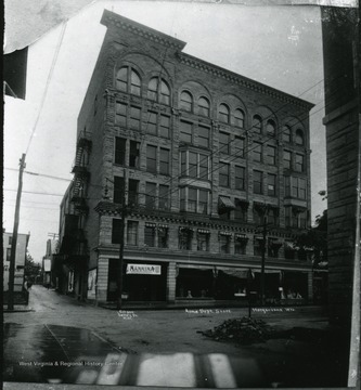 Exterior view of the Acme Department Store (the Strand Building.)