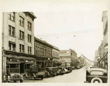 A view of High Street in Morgantown, West Virginia, looking southeast.
