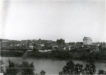 A view of Morgantown taken from the Westover side of the river looking Northeast.