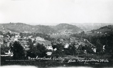 A photo of Decker's Creek Valley taken from Richwood Avenue looking Southeast.