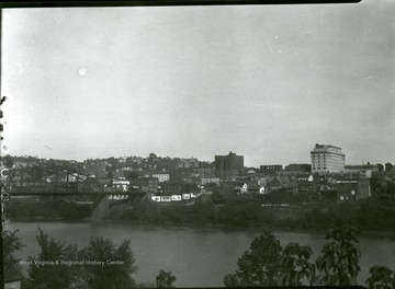 A view of Morgantown taken from western side of the Monongahela river looking northeast.