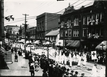 People gather for the Red Cross Parade.