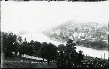 Distant view of Westover on the West Side of the Monongahela River.