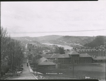 Looking south at Morgantown from the top of North High Street.