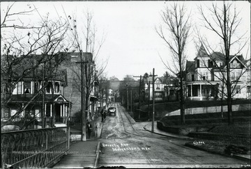 View looking up Beverly Avenue, now University Avenue, at Stewart Street.