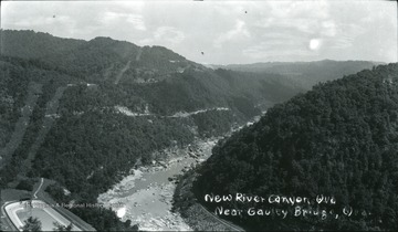Aerial view of the New River Canyon near Gauley Bridge.