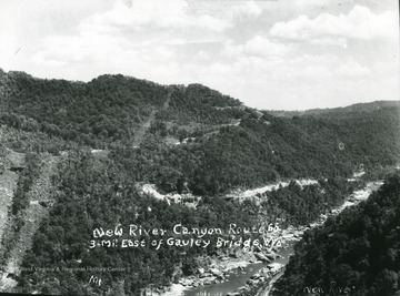 New River Canyon on Route 60 three miles east of Gauley Bridge.