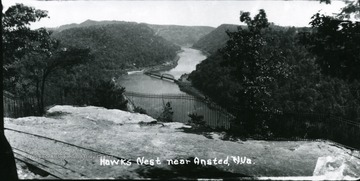 View of Hawks Nest near Ansted.