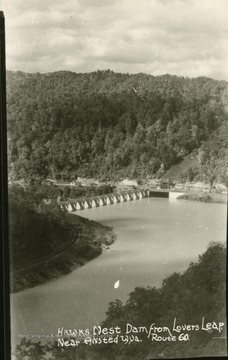 View of Hawk's Nest Dam from Lover's Leap near Ansted on Route 60.