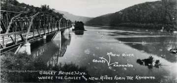 Gauley Bridge where the Gauley and New River form the Kanawha.