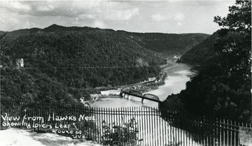 View from Hawk's Nest showing Lover's Leap on Route 60.