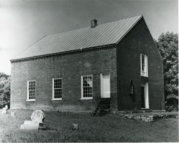 An exterior view of Christ Church in Bunker Hill, Berkeley County.