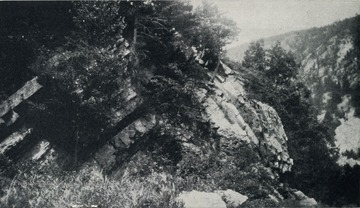 View of Caudy's Castle in Hampshire County, West Virginia Geological Survey.