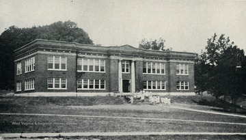 A view of the school building at the West Virginia Industrial Home for Girls.