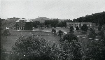 A view of the school building and Lincoln Cottage at the West Virginia Industrial Home for Girls.