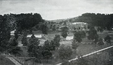 A view of Silver Hall and the grounds of the West Virginia Industrial Home for Girls.