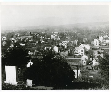 View of Washington Street in Moorefield from the cemetery.