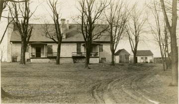 View of the Lee House in Leetown, Jefferson County. 'Now the house of A. B. Hirst.'