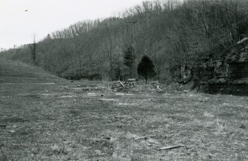 A distant view of the ruins of Red Sulphur Springs.