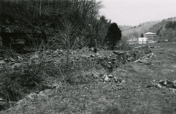 A view of the Red Sulphur Springs ruins looking down the valley toward Indian Creek.