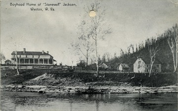A view of the 'boyhood home of 'Stonewall' Jackson'.