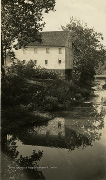 'The old mill, still standing on the site of West Virginia 4-H Camp near Weston. Operated by an uncle of Stonewall Jackson, it was near the boyhood home of the great confederate leader.'