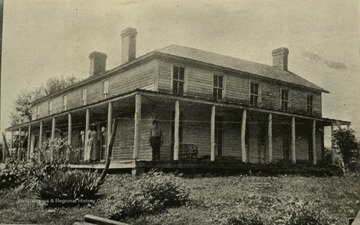 A view of the Cummins Jackson house from the right front corner.