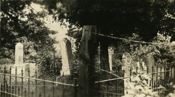 A view of some headstones in the Jackson family cemetery.
