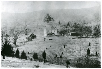 'James Dyer Ruddle home in Buffalo Hills near Ruddle, West Virginia.  Built in 1870.'