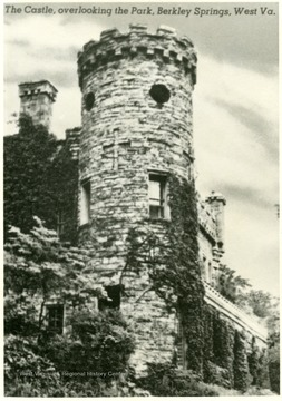 The castle overlooks the park in Berkeley Springs and is one of the landmarks of the town.