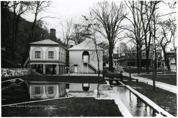 'George Washington loved to vacation in Berkeley Springs because of its naturally warm springs, which gave the town its original name of Bath.  The three principal springs and the bathhouses built around them today are part of Berkeley Springs State Park.'