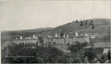A distant view of the Second Hospital for the Insane. A. J. Lyons, M. D., Superintendent.