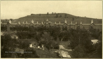 View of the Second Hospital for the Insane. Charles A. Barlow, M. D., Superintendent. This institution is located at Spencer, Roane County, and is reached by the Baltimore and Ohio Railroad. Number of patients July 1, 1914 was 539.