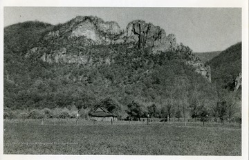 A view of Seneca Rocks in Pendleton County, West Virginia.