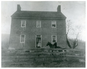 'Simmons Home, 9 miles south of Franklin, Late 19th Century.  Headquarters of Jackson in May of 1862.'