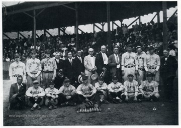 A group portrait of the team that played the old Chesapeake and Ohio during a 1929 reunion.