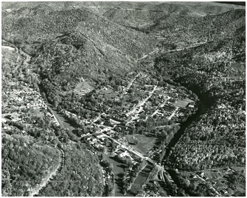 An aerial view of Webster Springs in Webster County.
