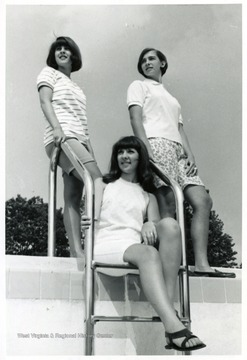 Pictured left to right; Lynne Taylor, Nelda Gilmore and RoseAnn Carrico, 1967, Preston County, W. Va.