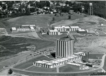 'Engineering Building, foreground; Agricultural Science, right; Agricultural Engineering, left.'
