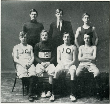 John T. Morgan, manager; Point, forward; Estill, forward; Gould, guard; Eckman, guard; Vandale, center; and Billingslea, substitute.
