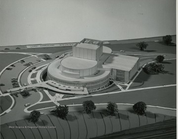 Architects drawing of the CAC.