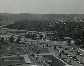 Aerial view of the construction of the CAC.