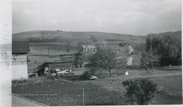 'Bulldozers at work on the top of hill for the Medical School.'