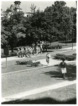 Students received special military training on the WVU campus during World War II.