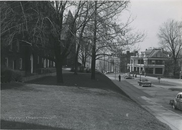 Left to right- Reynolds Hall, Administration, Law School, President's home
